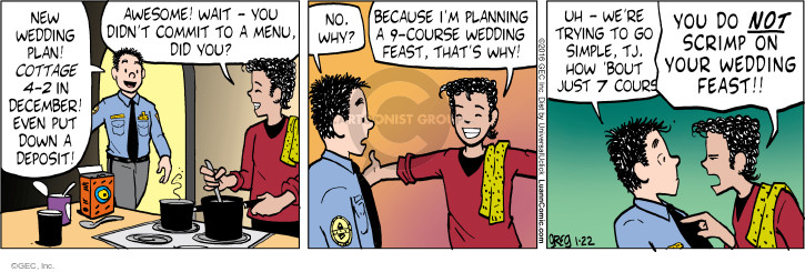 Comic Strip Greg Evans  Luann 2016-01-22 feast