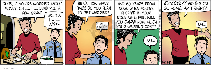 Comic Strip Greg Evans  Luann 2016-01-23 expensive
