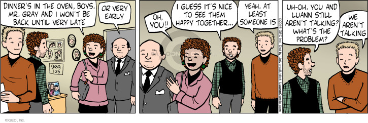 Comic Strip Greg Evans  Luann 2016-01-25 argument