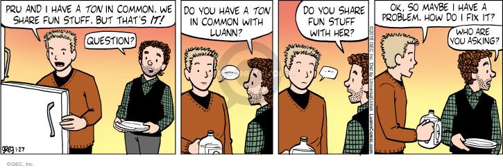 Comic Strip Greg Evans  Luann 2016-01-27 relationship advice