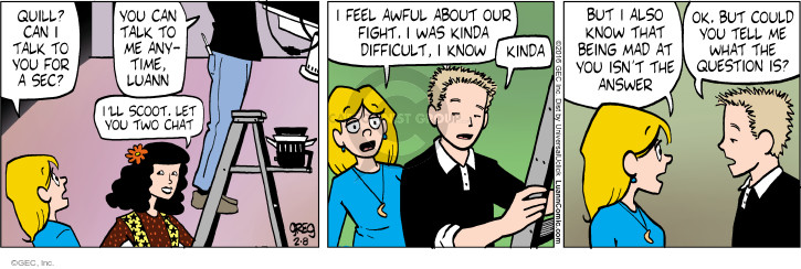Comic Strip Greg Evans  Luann 2016-02-08 argument