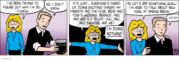 Comic Strip Greg Evans  Luann 2016-02-09 spring break