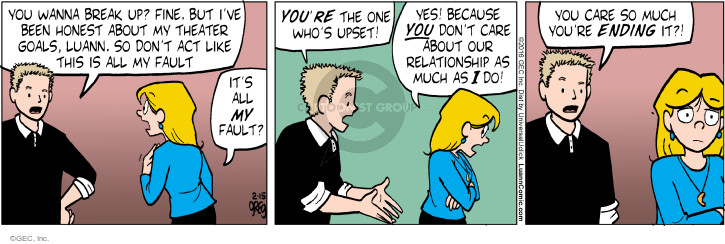 Comic Strip Greg Evans  Luann 2016-02-15 argument