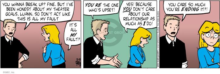 Comic Strip Greg Evans  Luann 2016-02-15 much