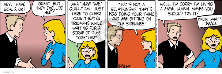 Comic Strip Greg Evans  Luann 2016-02-17 argument