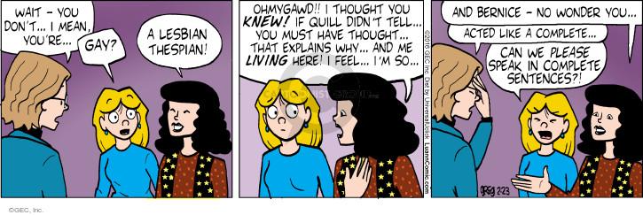 Comic Strip Greg Evans  Luann 2016-02-23 feel