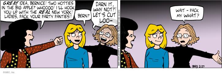 Comic Strip Greg Evans  Luann 2016-02-27 undergarment
