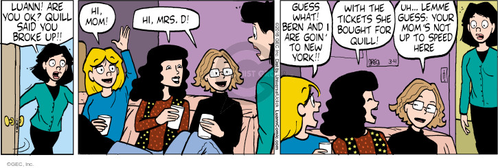 Comic Strip Greg Evans  Luann 2016-03-04 mothers and daughters