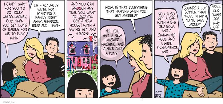 Comic Strip Greg Evans  Luann 2016-03-27 red