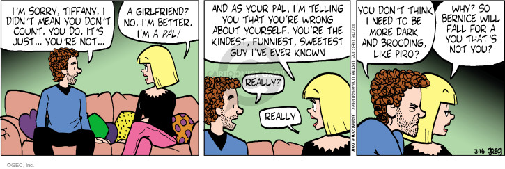 Comic Strip Greg Evans  Luann 2016-03-16 personality