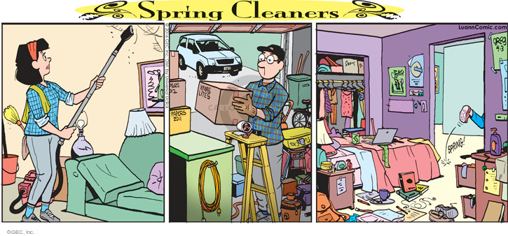 Comic Strip Greg Evans  Luann 2016-04-03 housework