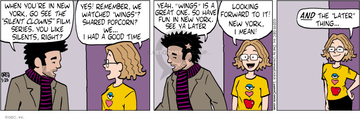 Comic Strip Greg Evans  Luann 2016-03-26 movie