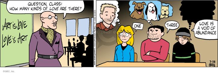 Comic Strip Greg Evans  Luann 2016-03-28 animal