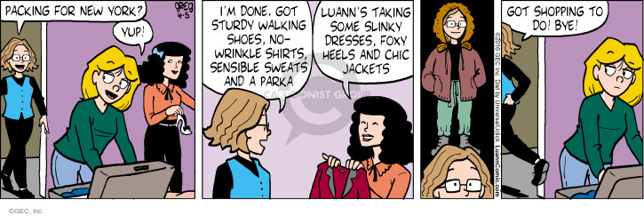Comic Strip Greg Evans  Luann 2016-04-05 wrinkle