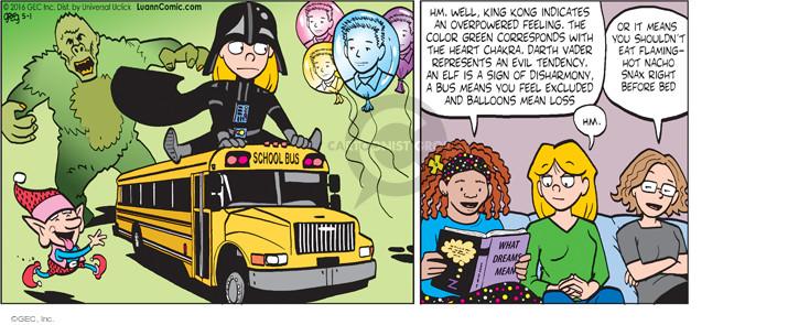 Comic Strip Greg Evans  Luann 2016-05-01 meant