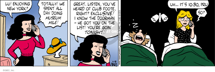 Comic Strip Greg Evans  Luann 2016-04-18 York