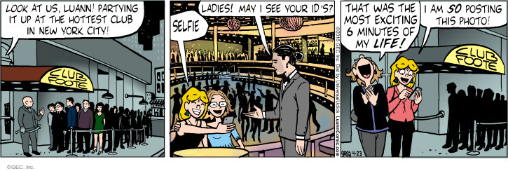 Comic Strip Greg Evans  Luann 2016-04-23 New York