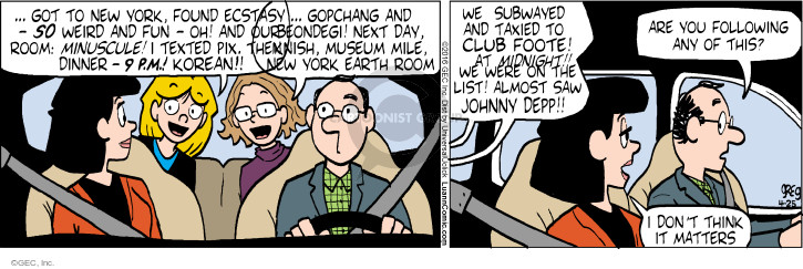 Comic Strip Greg Evans  Luann 2016-04-25 follow