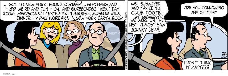 Comic Strip Greg Evans  Luann 2016-04-25 New York