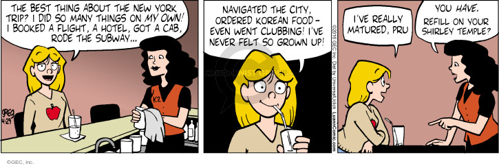 Comic Strip Greg Evans  Luann 2016-04-29 vacation