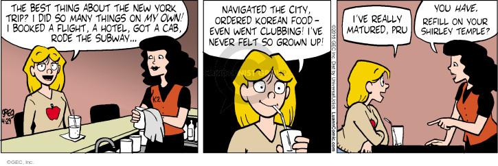 Comic Strip Greg Evans  Luann 2016-04-29 York