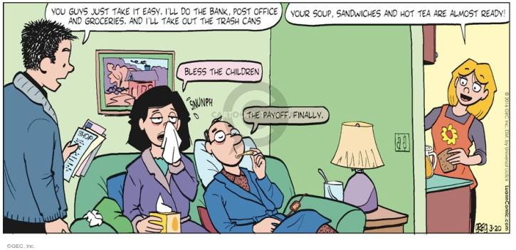 Comic Strip Greg Evans  Luann 2016-03-20 payoff