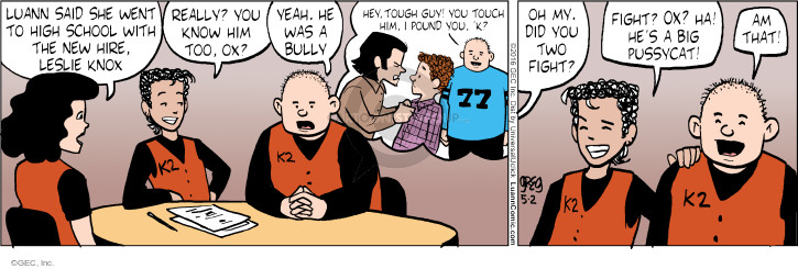 Cartoonist Greg Evans  Luann 2016-05-02 fight
