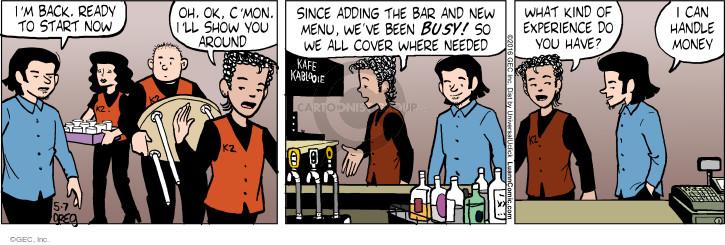 Comic Strip Greg Evans  Luann 2016-05-07 restaurant