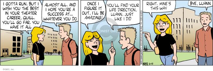 Comic Strip Greg Evans  Luann 2016-05-13 career