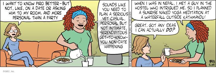 Comic Strip Greg Evans  Luann 2016-05-24 yoga