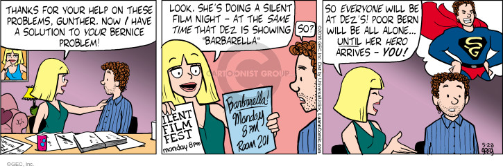Comic Strip Greg Evans  Luann 2016-05-28 silent movie
