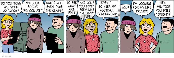 Comic Strip Greg Evans  Luann 2016-06-15 football