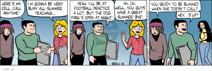 Comic Strip Greg Evans  Luann 2016-06-18 football