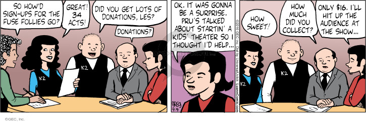 Comic Strip Greg Evans  Luann 2016-07-09 sweet