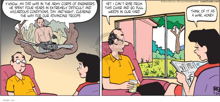 Comic Strip Greg Evans  Luann 2016-07-24 laziness