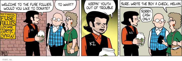 Comic Strip Greg Evans  Luann 2016-07-20 fundraising