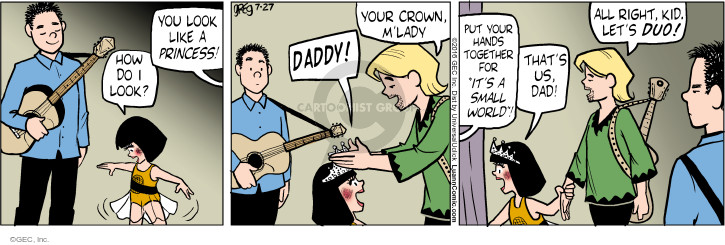 Cartoonist Greg Evans  Luann 2016-07-27 lady