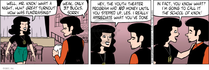 Comic Strip Greg Evans  Luann 2016-07-30 school fundraising