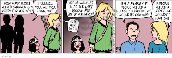 Cartoonist Greg Evans  Luann 2016-08-01 parental
