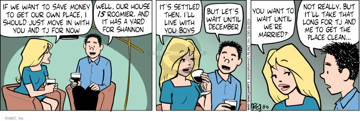 Comic Strip Greg Evans  Luann 2016-08-06 December