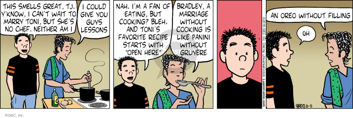 Comic Strip Greg Evans  Luann 2016-08-08 cooking