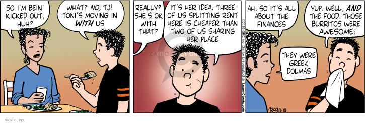 Comic Strip Greg Evans  Luann 2016-08-10 cooking