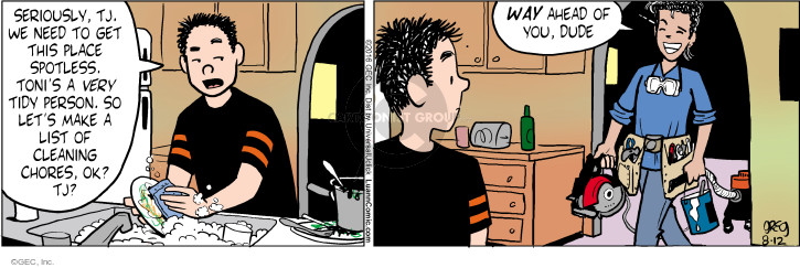 Comic Strip Greg Evans  Luann 2016-08-12 housework