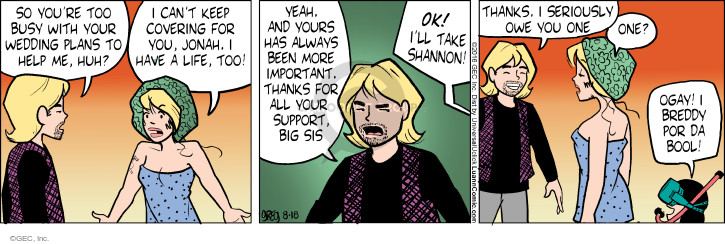 Comic Strip Greg Evans  Luann 2016-08-18 family