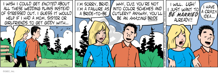 Comic Strip Greg Evans  Luann 2016-09-01 wedding ceremony