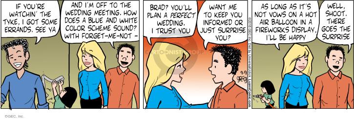 Comic Strip Greg Evans  Luann 2016-09-09 wedding plan