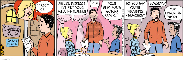 Comic Strip Greg Evans  Luann 2016-09-10 wedding ceremony