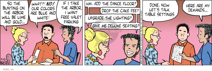 Comic Strip Greg Evans  Luann 2016-09-12 wedding ceremony