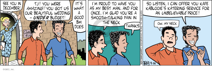 Comic Strip Greg Evans  Luann 2016-09-14 wedding ceremony