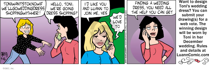 Comic Strip Greg Evans  Luann 2016-09-16 yes